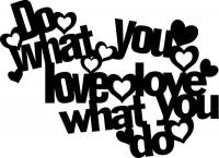 Marabu Silhouette-Schablone 30x30cm Do what you love (Restbestand)