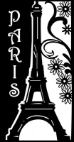 Marabu Silhouette-Schablone DIN A4  Romantic Paris (Restbestand)