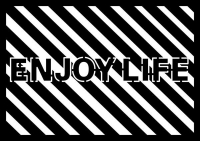 Marabu Silhouette-Schablone DIN A4  Enjoy Life (Restbestand)