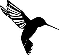 Marabu Silhouette-Schablone 15 x 15 cm  Little Bird (Restbestand)