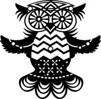 Marabu Silhouette-Schablone 15 x 15 cm Flying Owl (Restbestand)