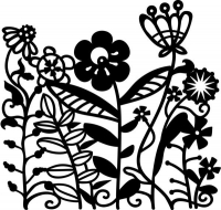 Marabu Silhouette-Schablone 15 x 15 cm Flowerbed (Restbestand)