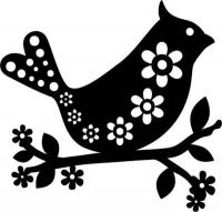 Marabu Silhouette-Schablone 15 x 15 cm Bird with flowers (Restbestand)