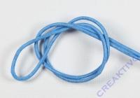 Rundriemen Lederband aus Rindleder 100cm 2mm hellblau