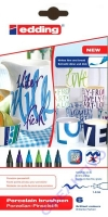 Edding 4200 Porzellan-Pinselstifte Blau-Töne 6 Stifte
