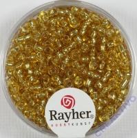 Rocailles 2,6mm ø mit Silbereinzug gold