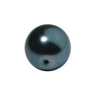 Glaswachsperle Kugel 16mm petrol (Restbestand)