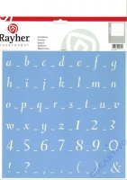 Rayher Schablone, Klassische Schrift , 30x30 cm, 1 Stück