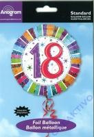 Folienballon 18 - 18 / 45cm