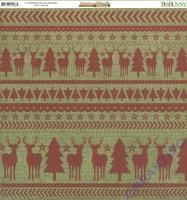 Scrapbooking Papier Christmas Collage - Reindeer (Restbestand)
