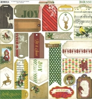 Scrapbooking Papier Christmas Collage - Glad things (Restbestand)
