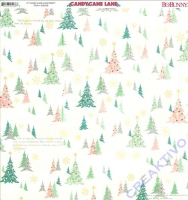 Scrapbooking Papier Candy Cane Lane - Frosty (Restbestand)