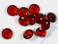 Acryl-Streuteile Diamant 1cm Dose 60g kirschrot