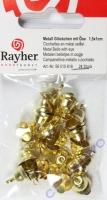 Rayher Metallglöckchen mit Öse gold 15x10mm 24 Stück