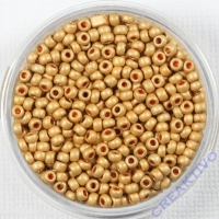 Pracht Rocailles metallic 2,6mm 17g matt gold