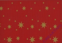 Bastelwellkarton 50x70 cm Sterne rot (B-Ware)