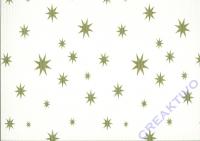 Bastelwellkarton 50x70 cm Sterne weiß