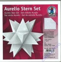 Aurelio Stern Set 15x15cm Transparentpapier Sterne weiß