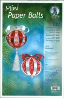 Mini Paper Balls Yule Ornaments
