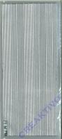 Sticker Zierstreifen Linien silber