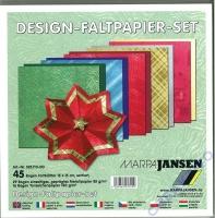 Design-Faltpapier-Set 15x15cm (Restbestand)