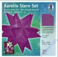 Aurelio Stern Set 30 x 30cm tranparent aubergine