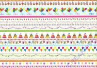 Motiv-Fotokarton 300g/qm 50x70cm Party - Linien bunt