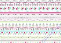 Motiv-Fotokarton 300g/qm 50x70cm Party - Linien pastell
