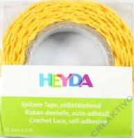 Spitzen Tape selbstklebend gelb