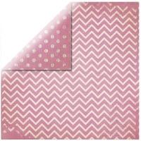 Scrapbookingpapier Chevron pink