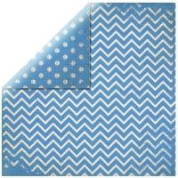 Scrapbookingpapier Chevron azurblau