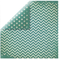 Scrapbookingpapier Chevron piniengrün
