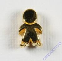 Metall-Perle Männchen gold