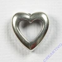 Metall-Zierelement Herz silber