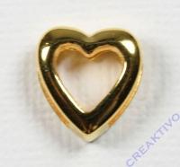 Metall-Zierelement Herz gold