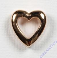 Metall-Zierelement Herz roségold