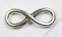 Metall-Zierelement Infinity silber