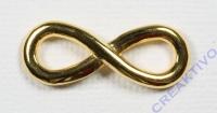 Metall-Zierelement Infinity gold