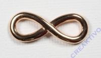 Metall-Zierelement Infinity roségold