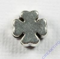 Metall-Perle Kleeblatt silber