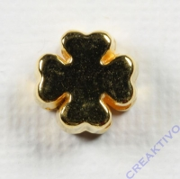 Metall-Perle Kleeblatt gold