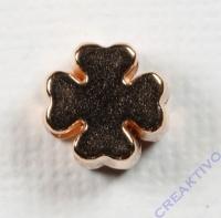 Metall-Perle Kleeblatt roségold