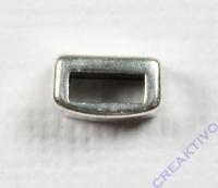 Metall-Zierelement eckig 8mm silber