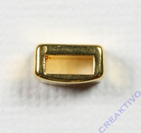 Metall-Zierelement eckig 8mm gold
