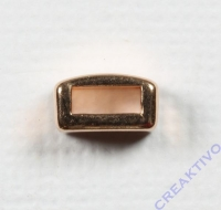 Metall-Zierelement eckig 8mm roségold