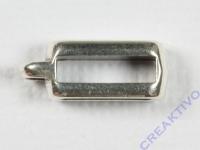 Metall-Zierelement mit Öse eckig silber