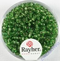 Rocailles 2,6mm ø mit Silbereinzug grün