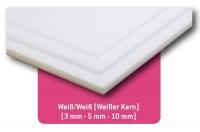 masterfoam Foamboard 50x70cm 5mm weiß/weiß