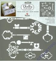 Chalky Finish Schablone Vintage Schlüssel
