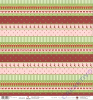 Scrapbooking-Papier Red Santa 190g/m² (Restbestand)